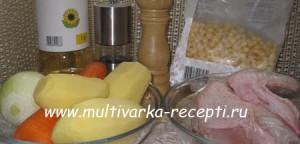 Суп с кукурузой в мультиварке