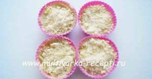 Лимонные мини-кексы с мелиссой и штрейзелем
