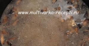 Перловка с грибами в мультиварке
