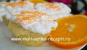 Апельсиновые кексы с безе в микроволновке