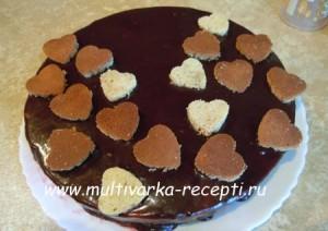 Торт «Малиновый блюз» в мультиварке