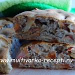 Бисквитная шарлотка с яблоками в духовке