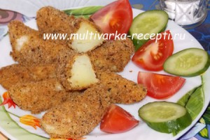 Картофель дольками, запеченный в духовке