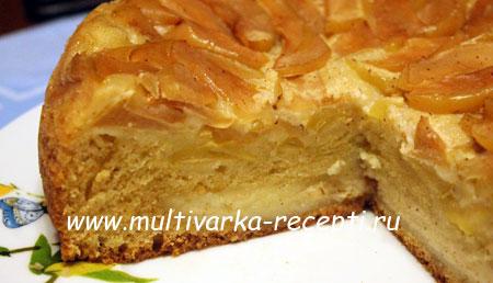 Пирог на молоке в мультиварке с яблоками рецепт