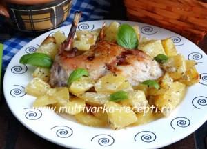 Кролик с картошкой в духовке