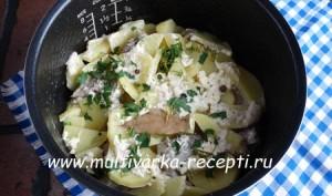 Рыба с картошкой в мультиварке