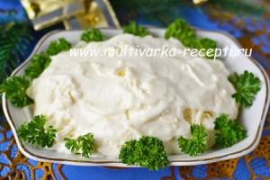 Салат Белочка с плавленым сыром
