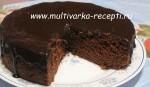 Шоколадный торт со свеклой в мультиварке