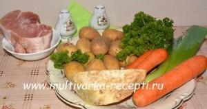 Рагу в мультиварке с мясом, сельдереем и имбирем