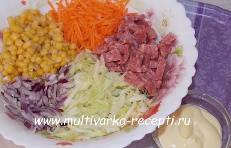 salat-s-kopchenoj-kolbasoj-6