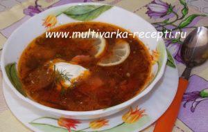 Солянка рецепт с колбасой