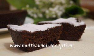 Шоколадно-кофейный бисквит в микроволновке