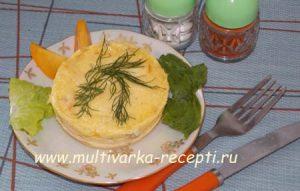 Омлет с курицей, помидорами и сыром в микроволновке