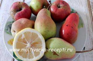 Варенье из груш с яблоками в мультиварке