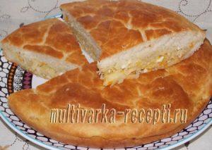 Дрожжевой пирог с капустой из жидкого теста