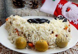 Рецепт салата Курочка с печенью