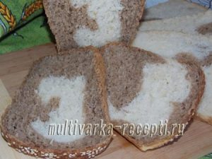 хлеб в духовке мраморный