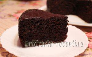 Шоколадно-банановый пирог в мультиварке рецепт