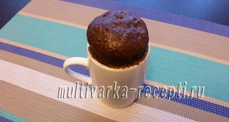 кекс в чашке в микроволновке за 5 минут