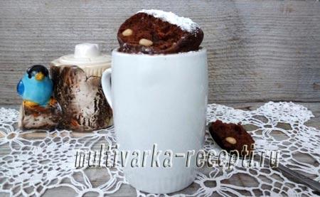 шоколадный кекс в чашке