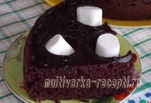 Шоколадный шифоновый бисквит в мультиварке