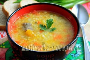 Суп из тыквы в мультиварке с пшеном