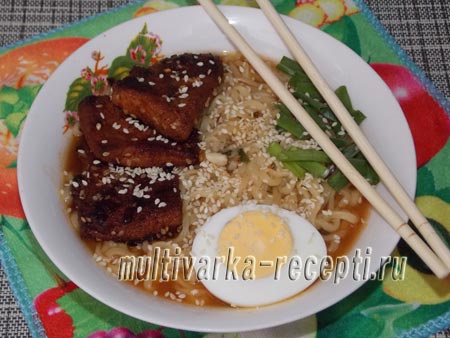 корейский суп Рамен