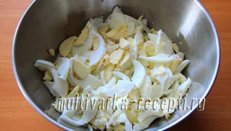 Салат кальмар яйцо кукуруза