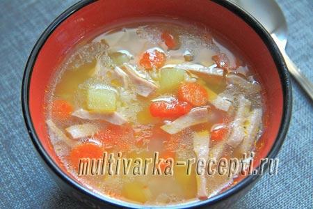 Как приготовить суп с колбасой в мультиварке: