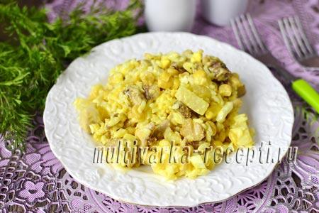 Как приготовить карри-салат с курицей, ананасами и рисом