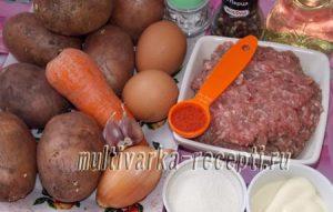 Картофельная запеканка с мясными шариками в мультиварке