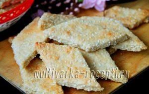 Постное домашнее печенье с кужутом
