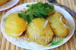 Картошка с луком в мультиварке: пошаговый рецепт с фото