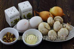 Паштет из вареных яиц с грибами