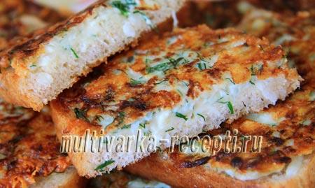 луковые гренки с сыром