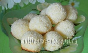 Кокосовое печенье в мультиварке