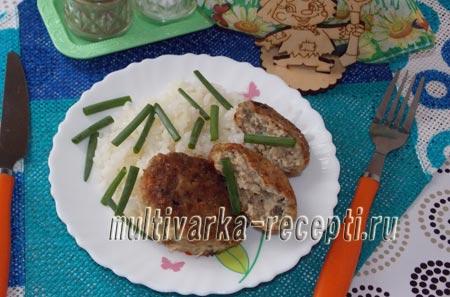 котлеты из свинины и грибов