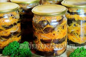 Рецепт баклажанов с морковью на зиму