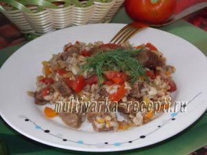 Перловка с мясом и овощами в мультиварке