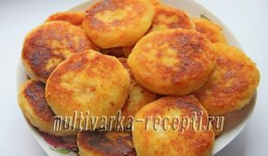 Биточки из картофельного пюре с сыром