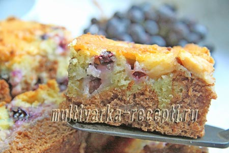 Как приготовить пирог День и Ночь с фруктами