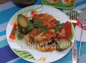 Куриная грудка с грибами в духовке рецепт