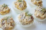 Яйца фаршированные грибной начинкой
