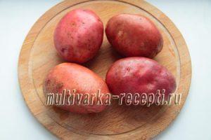 Фаршированный картофель в микроволновке