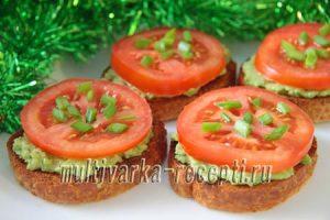 Бутерброды с пастой из авокадо рецепт