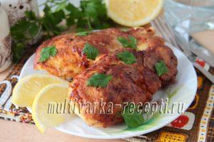 Курица в сырном кляре на сковороде