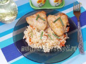 крылышки с рисом в мультиварке