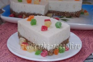 Диетические пирожные из творога