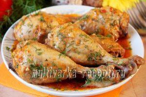 как приготовить куриную голень в духовке быстро и вкусно