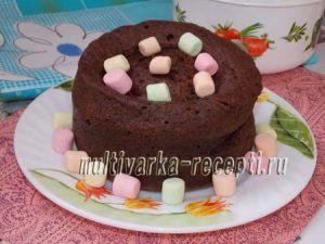 Шоколадно-творожный кекс в микроволновке